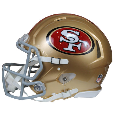 George Kittle Autographed San Francisco 49ers Gold Riddell Speed ProLine Full Size Helmet w/ Beckett COA
