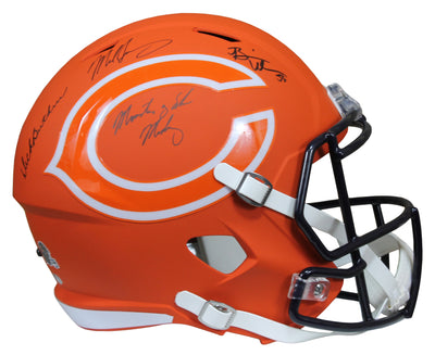 Butkus, Singletary & Urlacher Autographed Chicago Bears F/S Speed Replica AMP Helmet w/Monsters of the Midway Insc. Schwartz COA