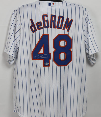 Jacob deGrom Autographed New York Mets White Majestic Jersey w/ Beckett COA