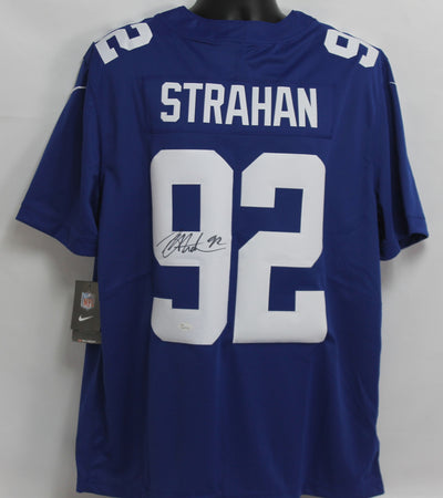 Michael Strahan Autographed New York Giants Blue Nike Jersey w/ Beckett COA