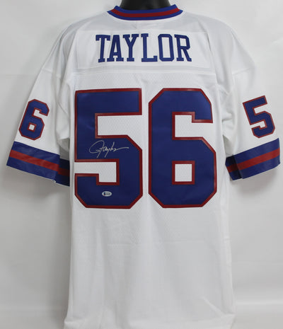 Lawrence Taylor Autographed New York Giants White Mitchell & Ness Jersey w/ Beckett COA