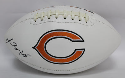Lance Briggs Autographed Chicago Bears White Panel Football w/ JSA COA