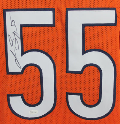 Lance Briggs Autographed Chicago Bears Orange Custom Jersey w/ JSA COA