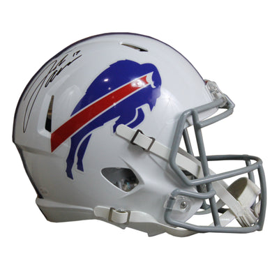 Josh Allen Autographed Buffalo Bills White Riddell Speed Replica Full Size Helmet w/ JSA COA