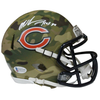 Mike Singletary Chicago Bears Signed Camo Speed Mini Helmet HOF (BAS COA)