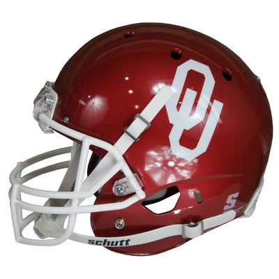Billy Sims Autographed Oklahoma Sooners Red Riddell Speed Replica Full Size Helmet w/ Inscription JSA COA