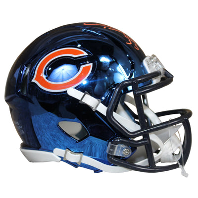 Charles Tillman Autographed Chicago Bears Blue Chrome Mini Helmet w/ JSA COA