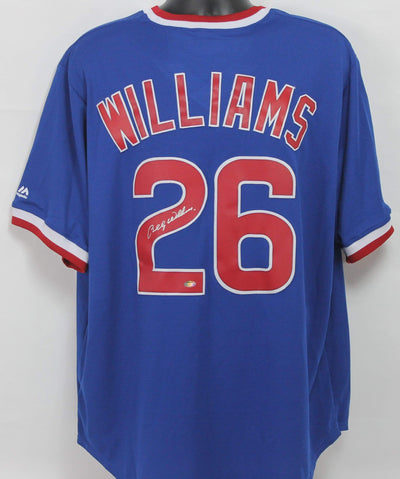 Billy Williams Autographed Chicago Cubs Blue Majestic Jersey w/ Schwartz COA