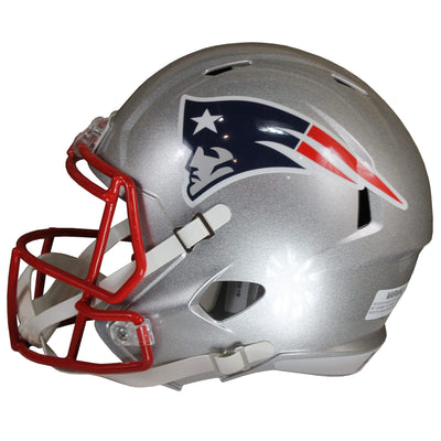 Damien Harris Autographed New England Patriots Silver Riddell Speed Replica Full Size Helmet w/ Beckett COA