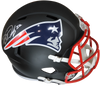Devin McCourty Autographed Patriots Flat Black Speed Replica Helmet w/Steiner COA