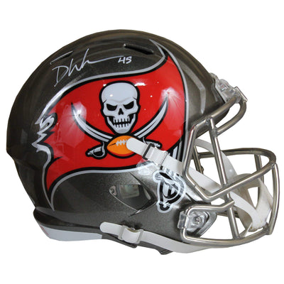 Devin White Autographed Tampa Bay Buccaneers Gold Riddell Speed Replica Full Size Helmet w/ Beckett COA