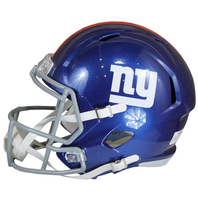 Dexter Lawrence Autographed New York Giants Blue Riddell Speed Replica Full Size Helmet w/ Beckett COA