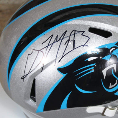 Gerald McCoy Autographed Carolina Panthers Silver Riddell Speed Replica Full Size Helmet w/ JSA COA