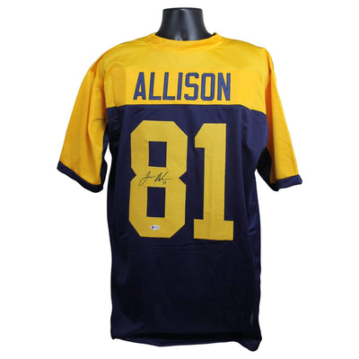 Geronimo Allison Autographed Green Bay Packers Blue/Yellow TB Custom Jersey w/ Beckett COA