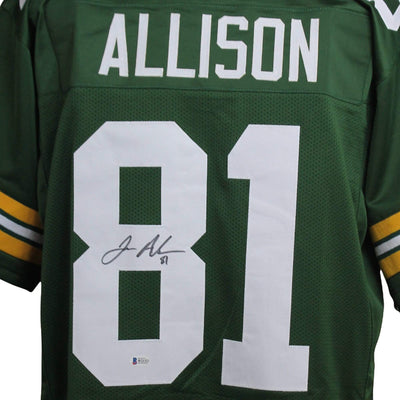 Geronimo Allison Autographed Green Bay Packers Green Custom Jersey w/ Beckett COA