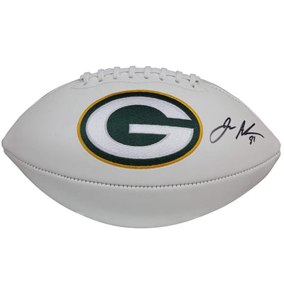 Geronimo Allison Autographed Green Bay Packers White Panel Football w/ Beckett COA