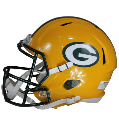 Jace Sternberger Autographed Green Bay Packers Yellow Riddell Speed Replica Full Size Helmet w/ Beckett COA