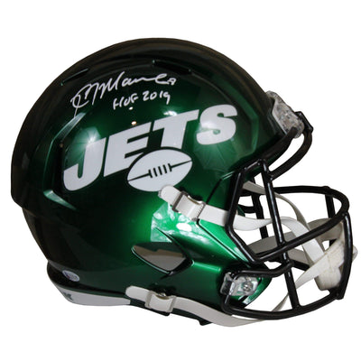 Kevin Mawae Autographed New York Jeys White Riddell Speed Replica Full Size Helmet w/ Beckett COA