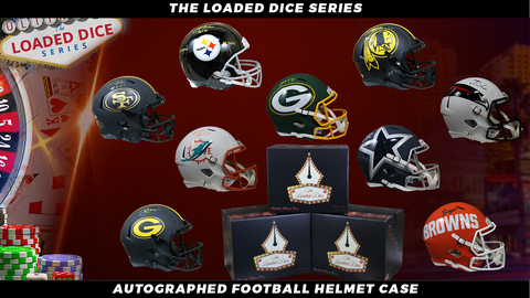 Autographed Football Helmets Mystery Box - Loaded Dice Series 8/13/20 Live Break #1
