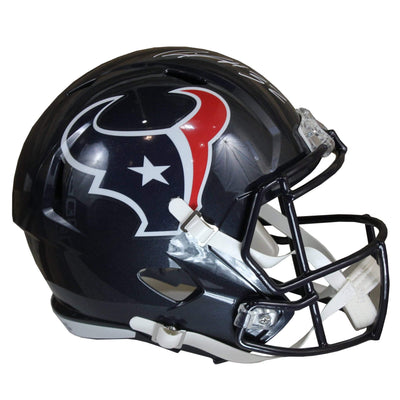 Lonnie Johnson Jr. Autographed Houston Texans Blue Riddell Speed Replica Full Size Helmet w/ Beckett COA