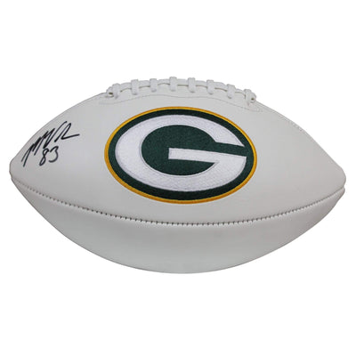 Marquez Valdes-Scantling Autographed Green Bay Packers White Panel Football w/ Beckett COA