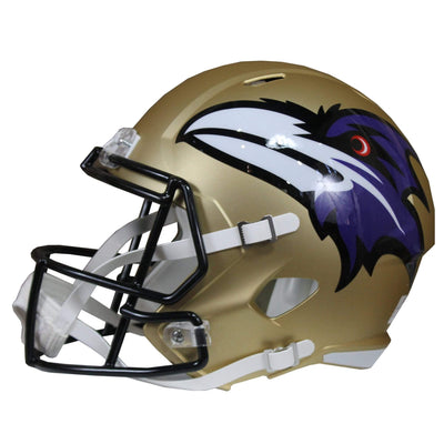 Marquise Brown Signed Baltimore Ravens Ridell Speed Replica Full Size Gold Amp NFL Helmet