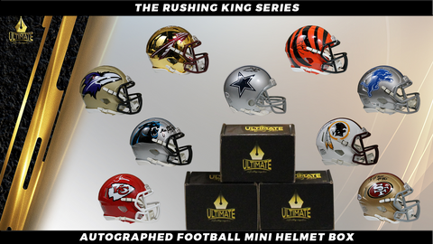 Autographed Football Mini Helmet Mystery Box - The Rushing King Series 8/13/20 Live Break #1 TWO BOX BREAK