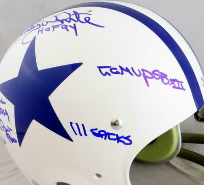 Randy White Dallas Cowboys Signed F/S 60-63 TK Helmet w/ 5 Insc (JSA COA)
