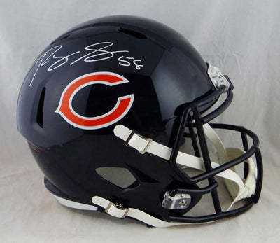 Roquan Smith Chicago Bears Signed F/S Speed Helmet (BAS COA)