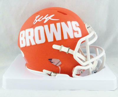 Baker Mayfield Cleveland Browns Signed AMP Mini Helmet (BAS COA)
