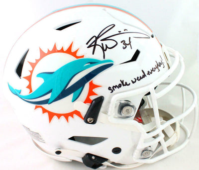 Ricky Williams Miami Dolphins Signed Dolphins Full-sized SpeedFlex Helmet with SWED (JSA COA)