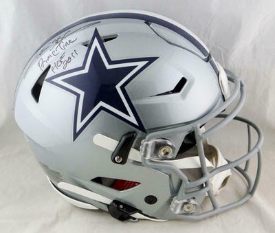Deion Sanders Dallas Cowboys Signed F/S SpeedFlex Helmet w/ 2 Insc (BAS COA)