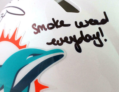 Ricky Williams Miami Dolphins Signed Dolphins Full-sized Speed Authentic Helmet with SWED (BAS COA)