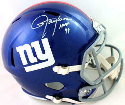 Lawrence Taylor New York Giants Signed NY Giants Full-sized Speed Helmet with HOF (BAS COA)