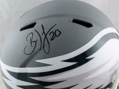 Brian Dawkins Philadelphia Eagles Signed Eagles Full-sized AMP Speed Helmet *Black (JSA COA)
