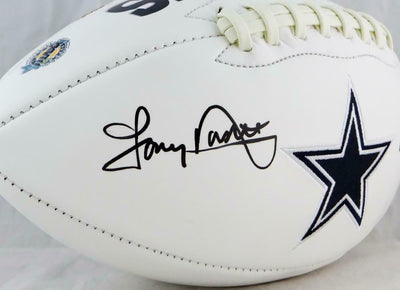Tony Dorsett Dallas Cowboys Signed Logo Football With HOF (BAS COA)
