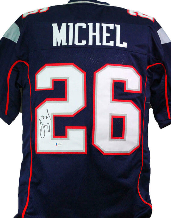 sony michel jersey signed