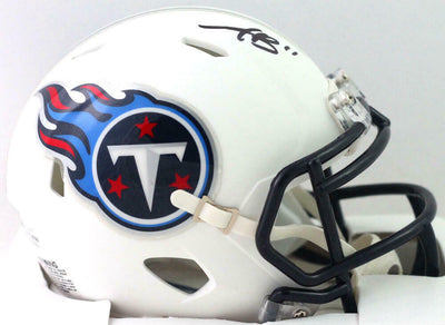 AJ Brown Tennessee Titans Signed Tennessee Titans Flat White Speed Mini Helmet (BAS COA)