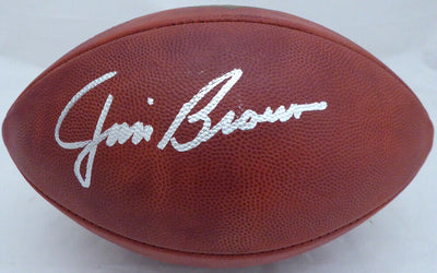 JIM BROWN SIGNED LEATHER NFL FOOTBALL (BAS COA)