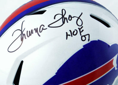 Thurman Thomas Buffalo Bills Signed F/S Speed Helmet (JSA COA)