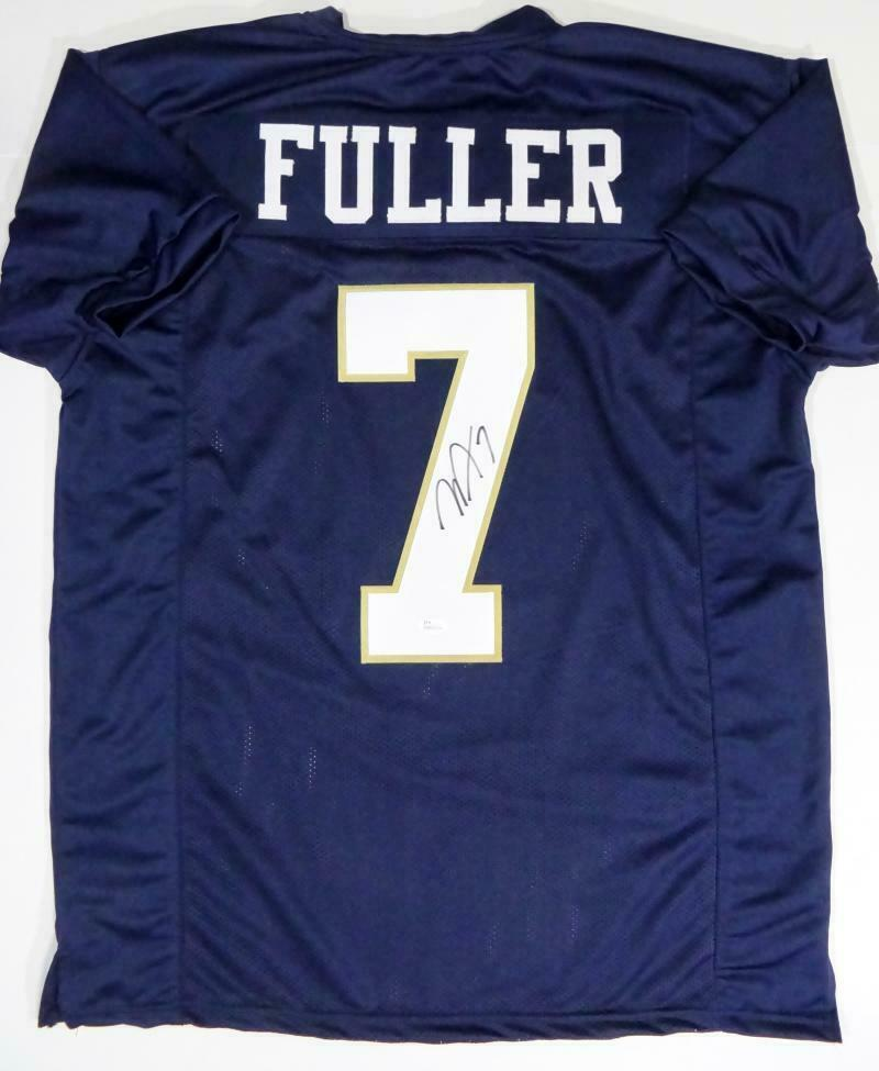 Will Fuller Autographed Navy Blue College Style Jersey (JSA COA)