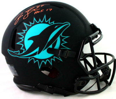 Jason Taylor Miami Dolphins Signed Miami Dolphins Eclipse Authentic Helmet with HOF (JSA COA)