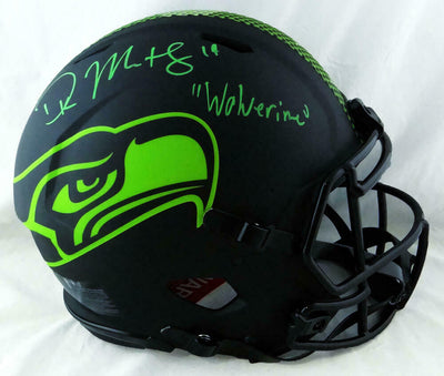 DK Metcalf Seattle Seahawks Signed Seahawks Full-sized Eclipse Authentic Helmet with Insc (BAS COA)