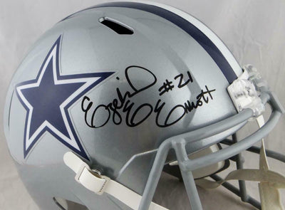 Ezekiel Elliott Dallas Cowboys Signed F/S Speed Helmet (BAS COA)