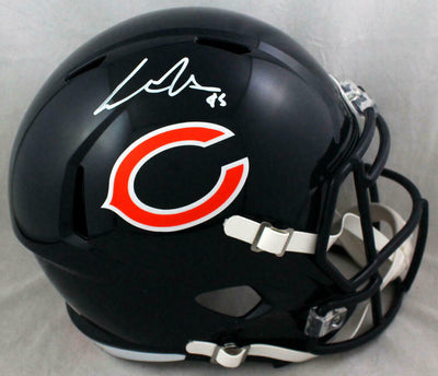 Cole Kmet Chicago Bears Signed F/S Speed Helmet (BAS COA)