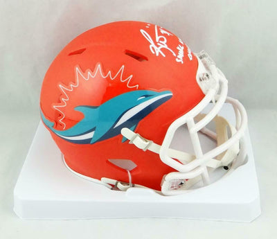 Ricky Williams Miami Dolphins Signed Miami Dolphins AMP Mini Helmet with SWED (JSA COA)