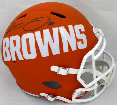 JARVIS LANDRY CLEVELAND BROWNS SIGNED FULL SIZE AMP SPEED HELMET (BAS COA)