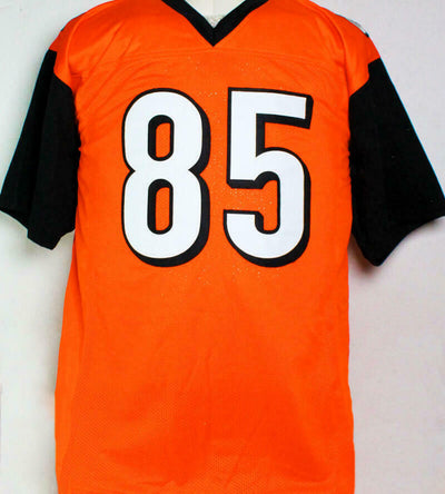 Chad Johnson Autographed Orange Pro Style Alternate Jersey (JSA COA)