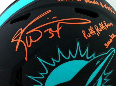 Ricky Williams Miami Dolphins Signed Miami Full-sized Eclipse Authentic Helmet with 3 Insc (BAS COA)