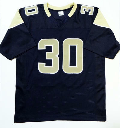 Todd Gurley Los Angeles Rams Signed Navy Blue Pro Style Jersey PSA COA (St. Louis)